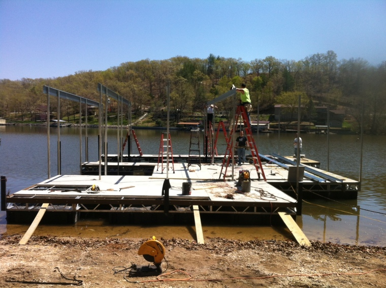 New dock construction