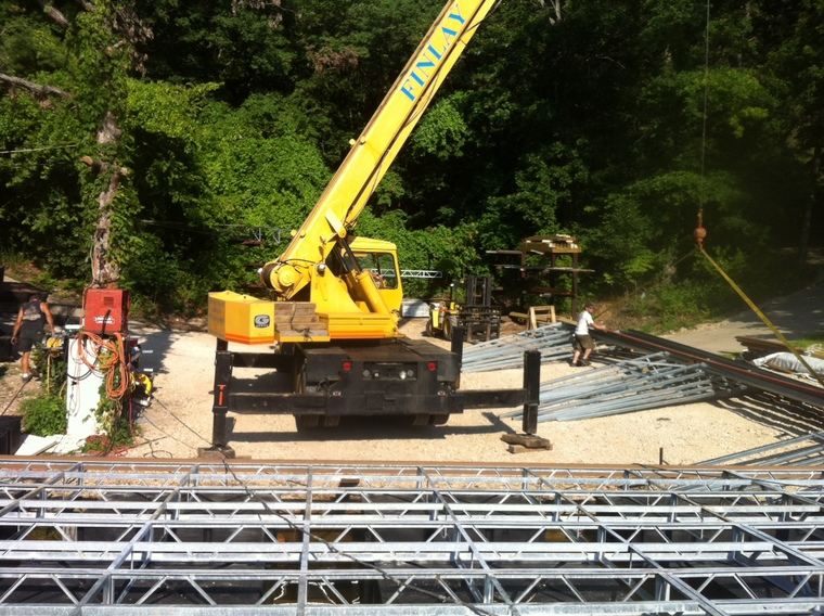 Setting Z-Purlins with Crane