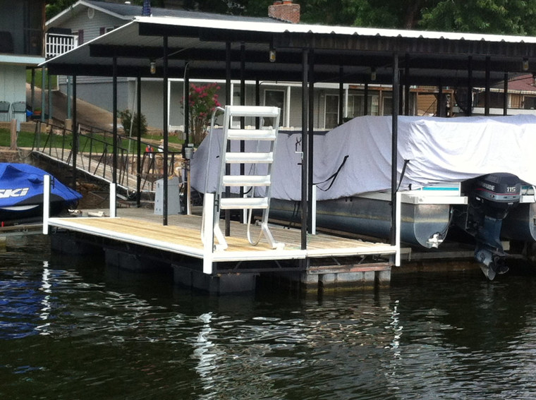 New swim dock, little Niangua