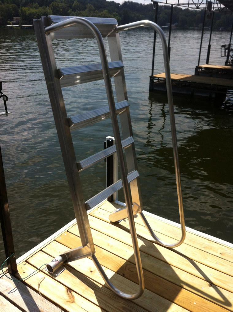 Swim dock ladder, little Niangua
