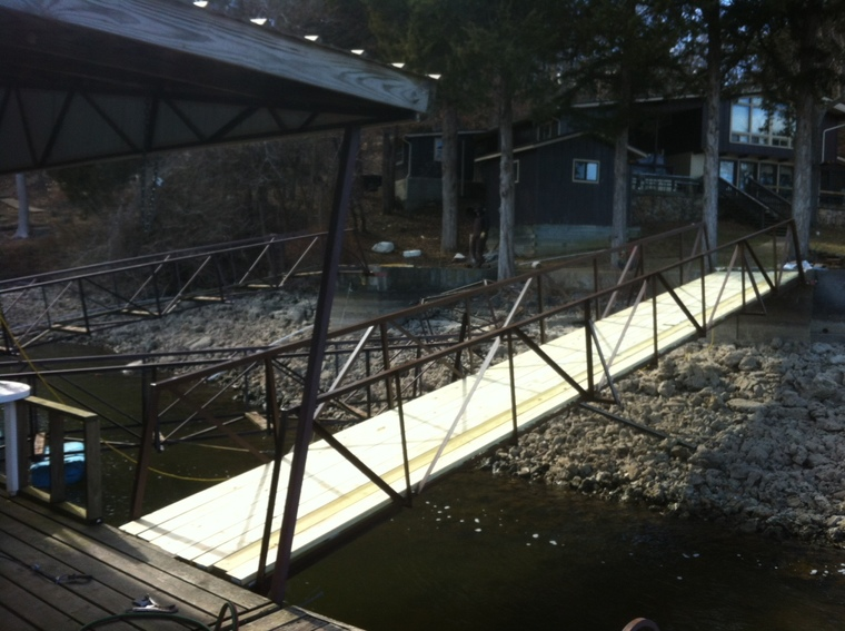 Replaced Dock ramp: Big Niangua