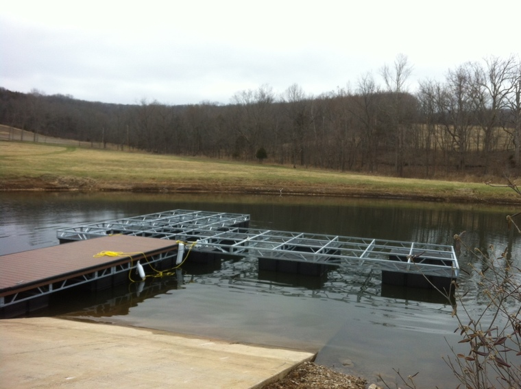Private lake new dock