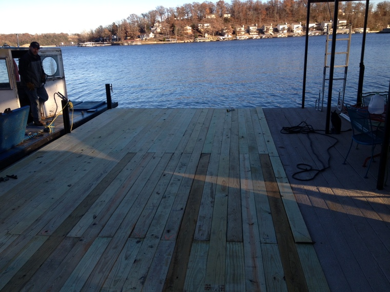 New swim dock 1 mm osage