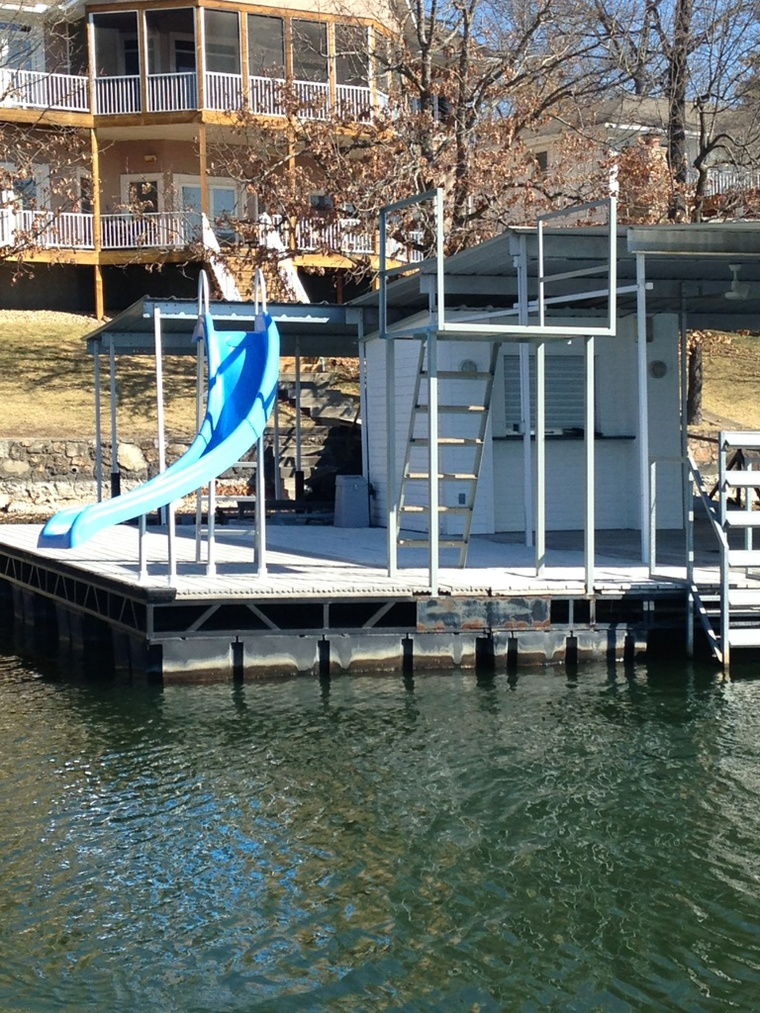 New dock slide, Gravois Mills