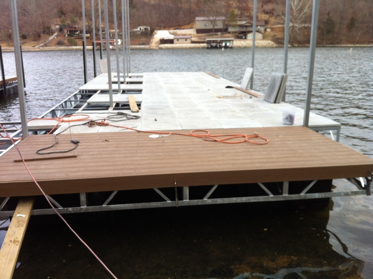 New Dock with composite decking