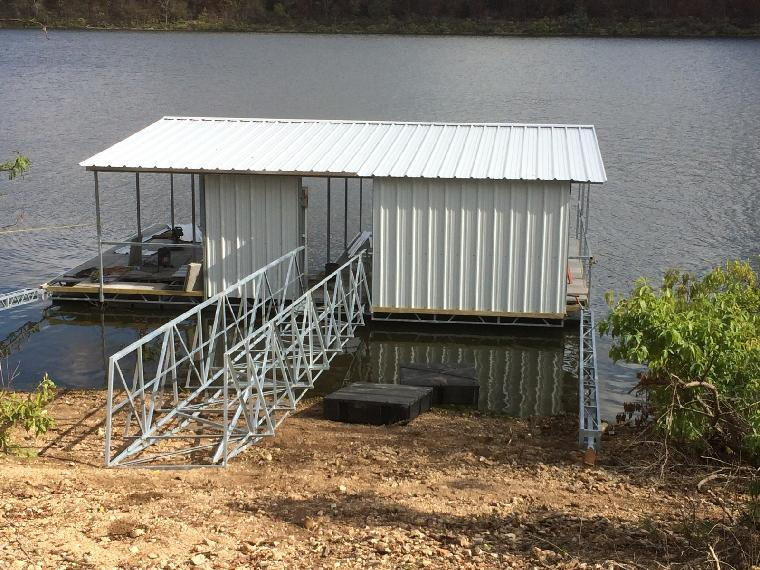 New residential dock at Pomme DE Terre Lake.