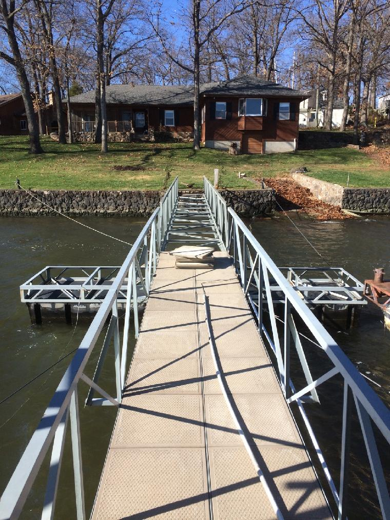 New ramp install, located in Lake of the Ozarks, on the 31 mile marker of the Osage arm.