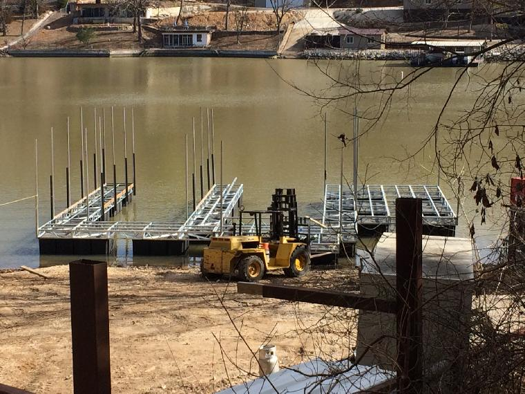 Currently building this dock with 2 wells and a swim dock area. Stay tuned for the completion.