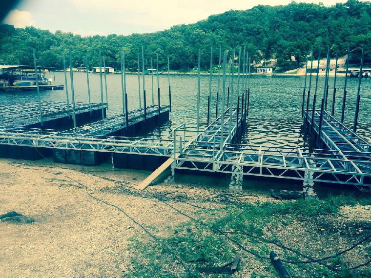 Kim's dock getting ready for concrete. 3 well dock with Pwc slip and dock Locker/bar.