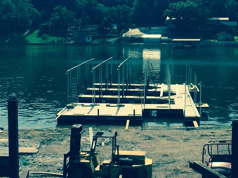 Kim's dock. Ready for roof.