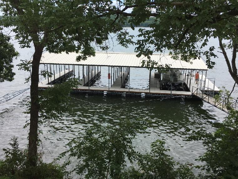 New 4 well dock at St. Moritz in Lake of the Ozarks, MO.