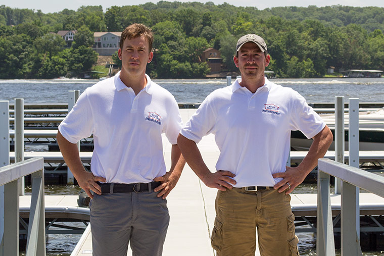 Sales Team, Ryan and Brad Hollingsworth, Richs Dock Company